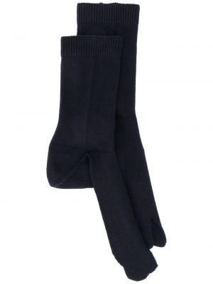 Хлопковые синие носки эластичные в рубчик Maison Margiela