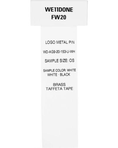 Черная серебряная брошь металлическая We11done