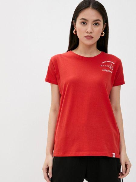 Красная футбольная футболка Rock Angel