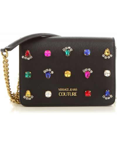Czarna torebka zimowa Versace Jeans Couture