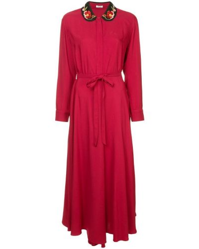 Платье на пуговицах с длинными рукавами Vilshenko