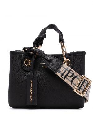 Черная сумка золотистая Emporio Armani