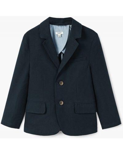 Пиджак темно-синий синий Mango Kids