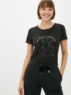 Черная зимняя футболка Torstai