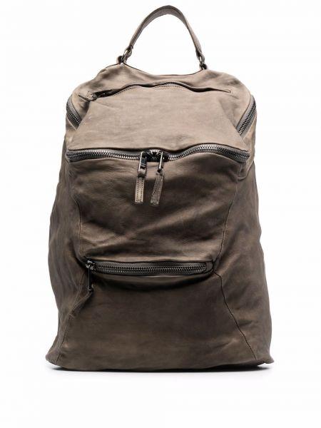 Zielony plecak skórzany Giorgio Brato