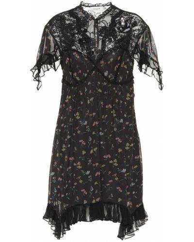Платье мини с цветочным принтом классическое Coach