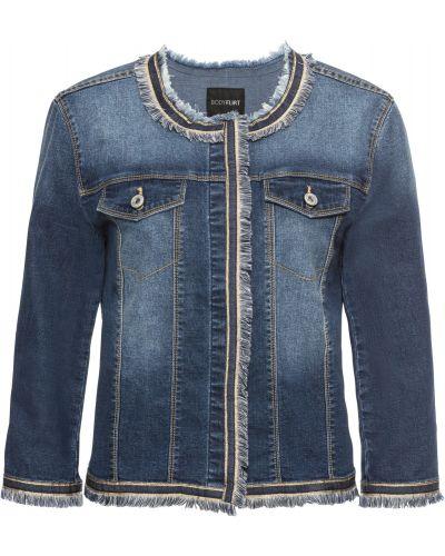 Джинсовая куртка с бахромой на пуговицах Bonprix