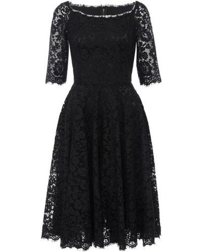 Платье с бахромой приталенное Dolce & Gabbana