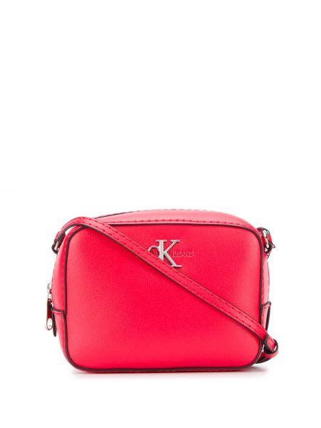 Серебряная сумка через плечо с перьями Calvin Klein