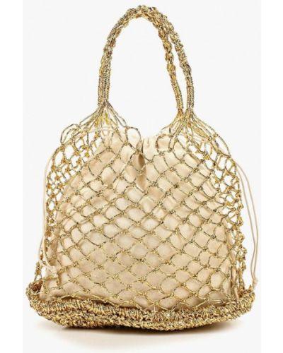 Пляжная сумка золотого цвета Topshop