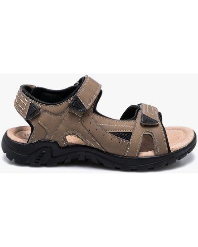 Бежевые сандалии кожаные American Club