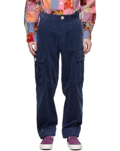 Beżowe spodnie sztruksowe z paskiem Landlord