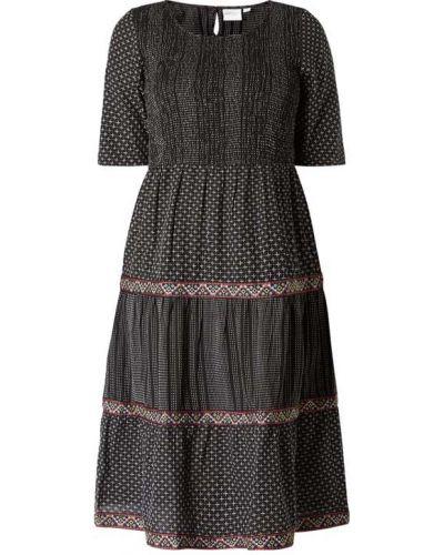 Czarna sukienka rozkloszowana bawełniana Junarose