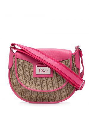 Beżowa torebka crossbody skórzana Christian Dior