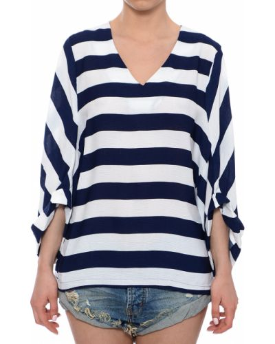 Блузка белая синяя Anonyme