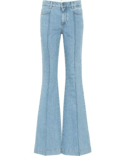Хлопковые расклешенные синие джинсы Stella Mccartney