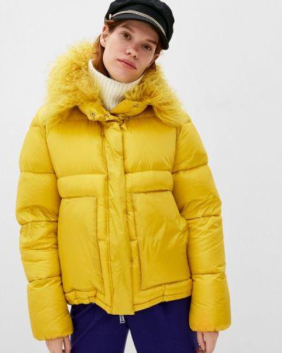 Желтая зимняя куртка Add