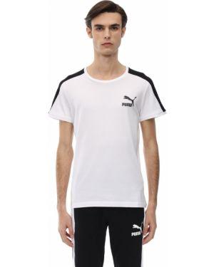 Biały t-shirt bawełniany Puma Select