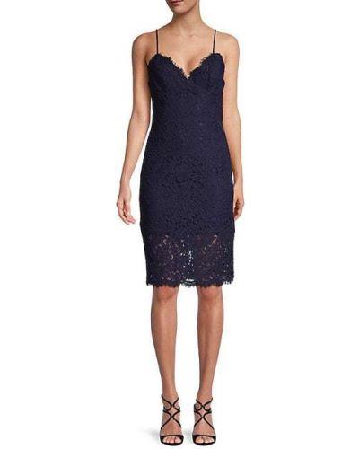 Приталенное кружевное платье с бахромой Bardot