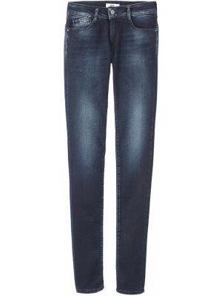 Темно-синие джинсы-скинни с пуш-ап с пайетками с воротником Le Temps Des Cerises