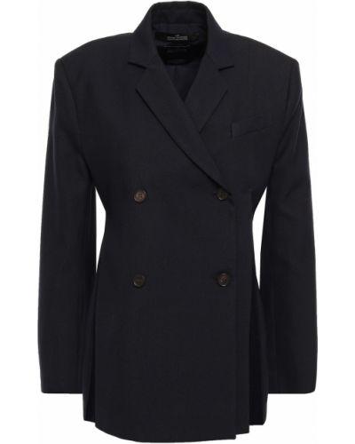 Шелковый пиджак двубортный с карманами Rokh