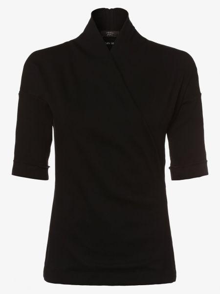 Sport czarny t-shirt do salonu ze stójką Marc Cain Sports