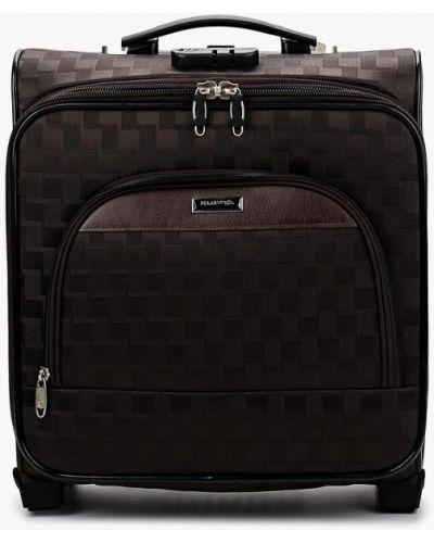 Коричневый чемодан Polar