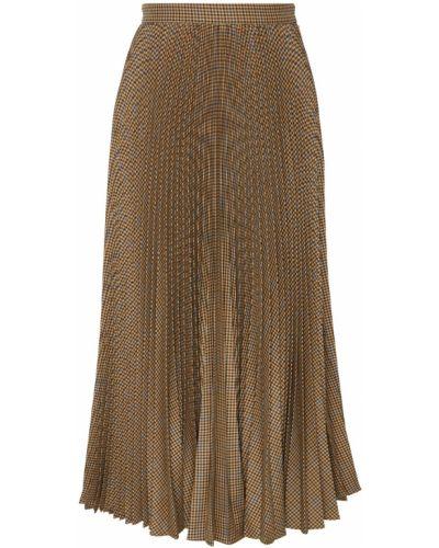 Плиссированная юбка миди макси Gucci