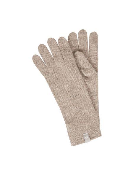 Z kaszmiru beżowe rękawiczki Fraas