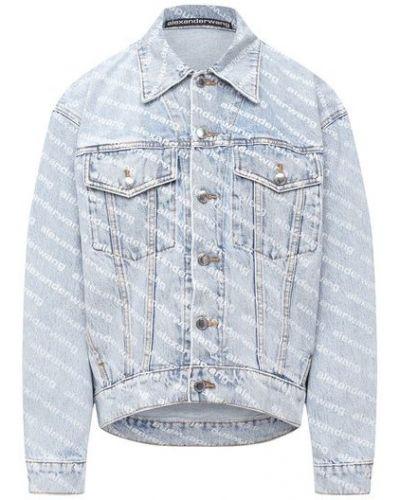 Хлопковая джинсовая куртка - синяя Denim X Alexander Wang