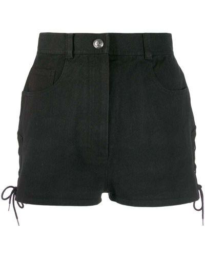 Черные шорты с карманами на пуговицах Chanel Pre-owned