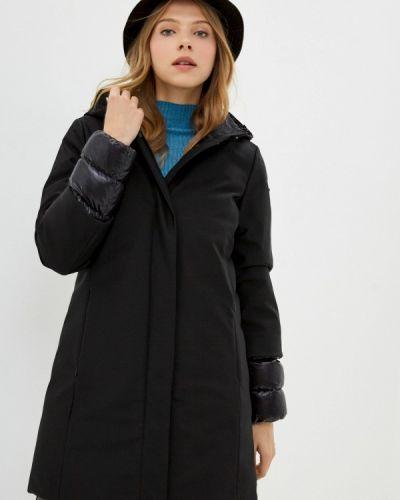 Теплая черная зимняя куртка Geox