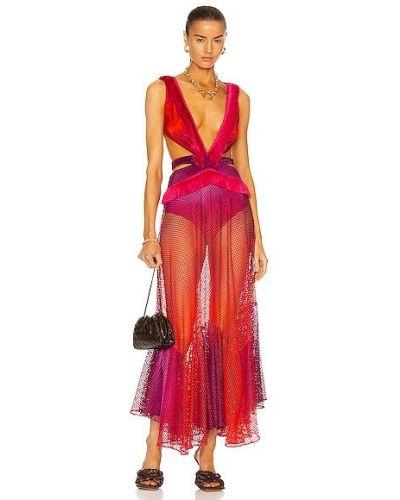 Платье с бахромой - розовое Patbo