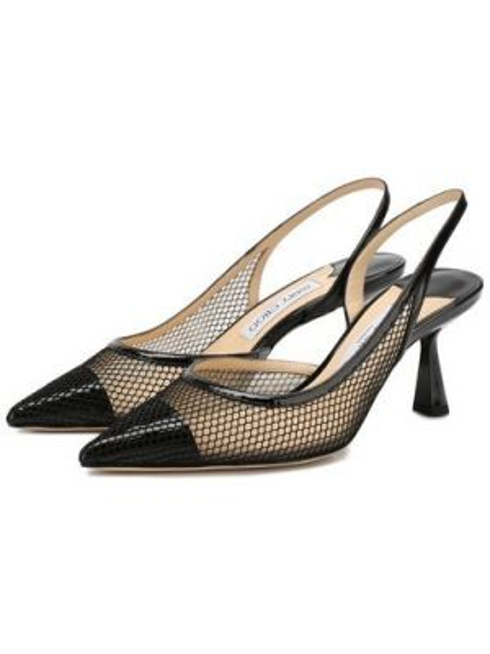 Туфли на каблуке черные кожаные Jimmy Choo