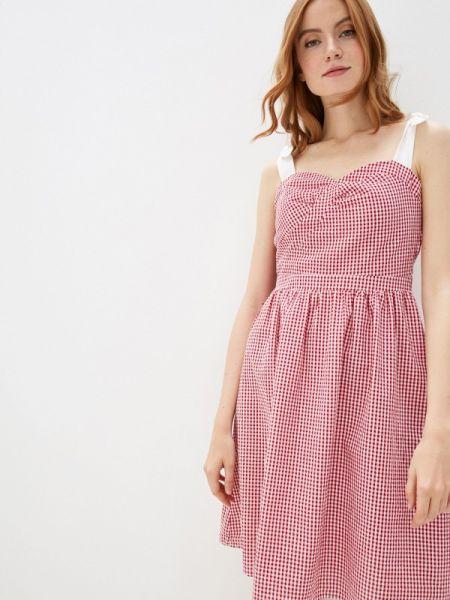 Платье платье-сарафан красный Naf Naf