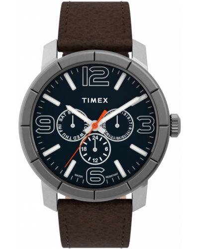 Zegarek kwarcowy skórzany z paskiem Timex