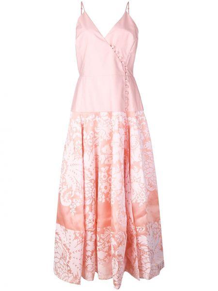 Платье миди на запах - розовое Rosie Assoulin