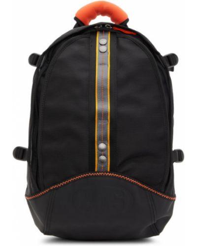 Черный кожаный рюкзак для ноутбука с карманами Parajumpers