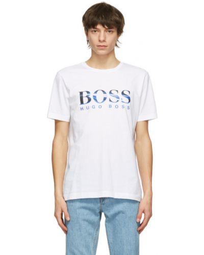 Bawełna czarny koszula krótkie rękawy Boss