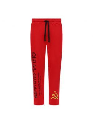 Красные итальянские брюки Diego Venturino