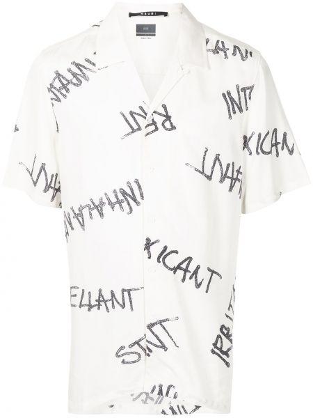 Biała koszula z wiskozy Ksubi