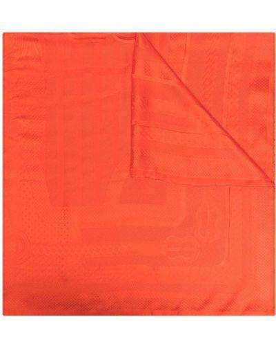 Красный шелковый платок винтажный Hermès