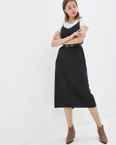 Платье платье-сарафан черное Louitex