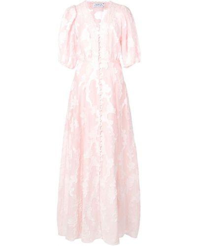 Платье мини розовое на пуговицах Tanya Taylor