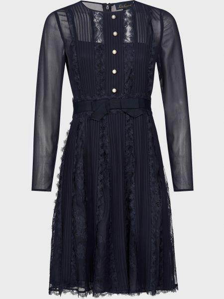 Синее платье на молнии с жемчугом Luisa Spagnoli