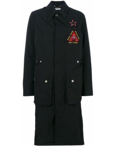 Черное длинное пальто с капюшоном Givenchy