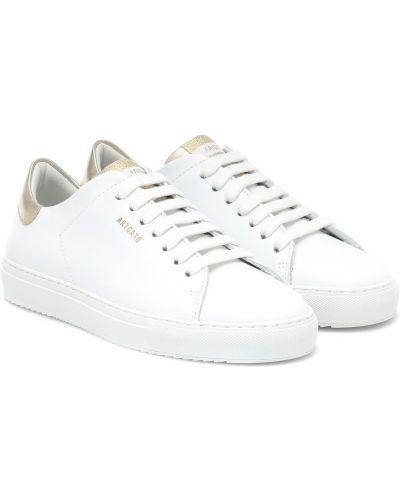 Повседневные белые кожаные кроссовки из натуральной кожи Axel Arigato