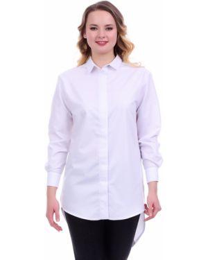 С рукавами деловая классическая рубашка с воротником для офиса Lautus