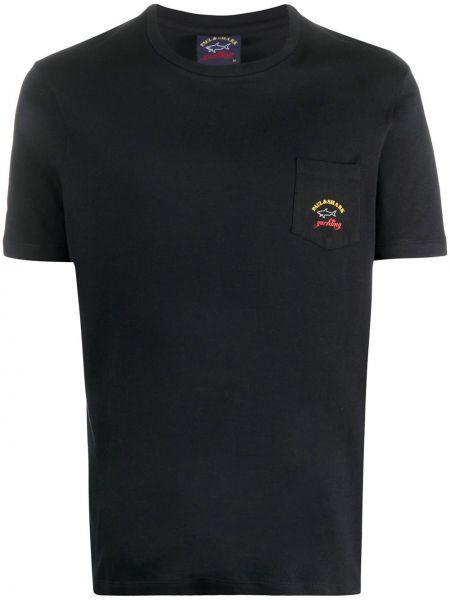 Koszula krótkie z krótkim rękawem prosto z nadrukiem Paul & Shark