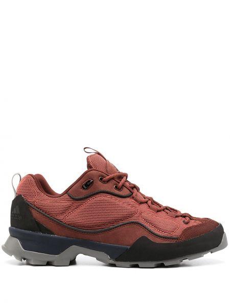 Красные кожаные кроссовки на шнуровке Adidas